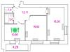 """Схема квартиры в проекте """"Талдомская жемчужина""""- #468347173"""