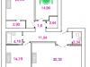 """Схема квартиры в проекте """"Талдомская жемчужина""""- #1357051060"""